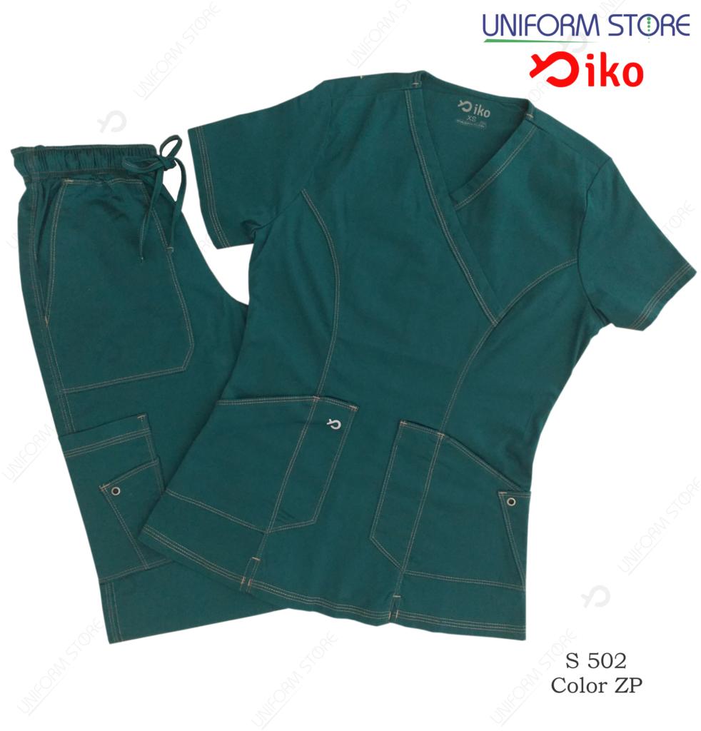 uniforme medico iko 502 azul petroleo