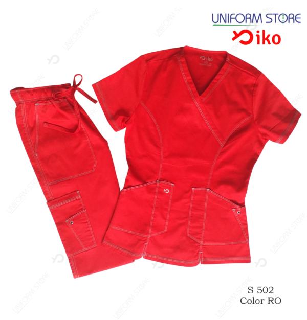 uniforme medico iko 502 rojo