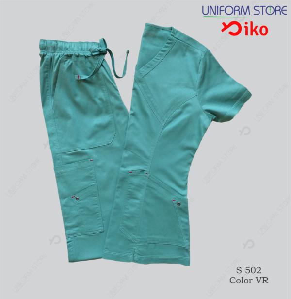 uniforme medico iko 502 verde manzana