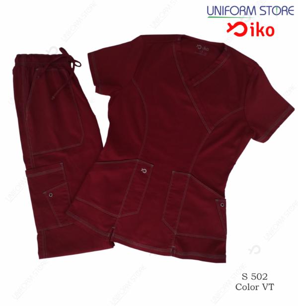 uniforme medico iko 502 vinotinto