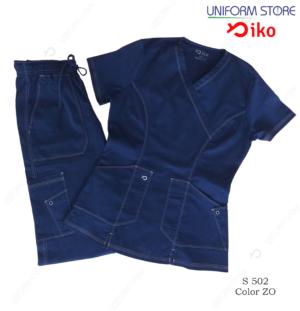uniforme medico iko 502 azul oscuro
